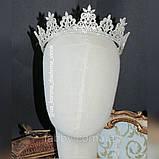 VIP Корона майже повного кола з Діамантами ювелірними (цирконій) (6см), фото 2