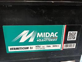 Акумулятор АКБ MIDAC HERMETICUM 6CT-70 Asia (2G)