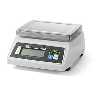 Весы кухонные водонепроницаемые 30 кг CAS с проверкой двухсторонние Hendi (580387)