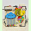 "Бизикуб ""Пчелка"" 30*30*30 на 40 элементов - развивающий домик, бизиборд, бизидом, бизикубик, фото 3"