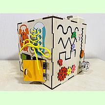 "Бизикуб ""Медузка"" 30*30*30 на 44 элементов - развивающий домик, бизиборд, бизидом, бизикубик, фото 3"