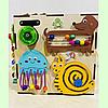 "Бизикуб ""Медузка"" 30*30*30 на 44 элементов - развивающий домик, бизиборд, бизидом, бизикубик, фото 4"