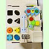 "Бизикуб ""Медузка"" 30*30*30 на 44 элементов - развивающий домик, бизиборд, бизидом, бизикубик, фото 6"
