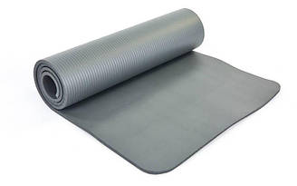 Коврик для йоги и фитнеса planeta-sport NBR FI-6986 183 x 61 x 1 см Серый FI-6986Серый, КОД: 1679522