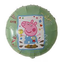 Воздушный шарик свинка пеппа с кубком 45 см