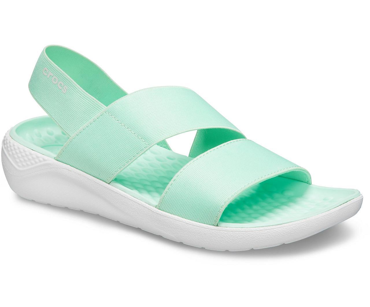 Босоножки женские Кроксы ЛайтРайд Стретч оригинал / Crocs Women's LiteRide Stretch Sandal (206081), Мятные