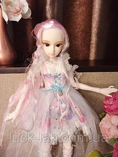 Шарнірна лялька bjd автора 1/4 Кетті зріст 45 см, фіолетовий колір волосся + одяг і взуття в подарунок