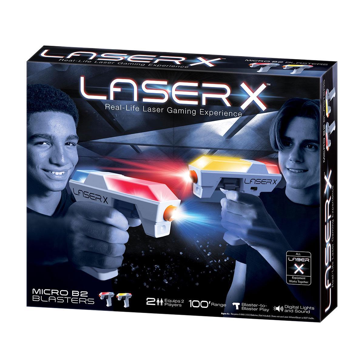 Игровой набор для лазерных боев - LASER X MICRO для двух игроков, детский лезер пистолет
