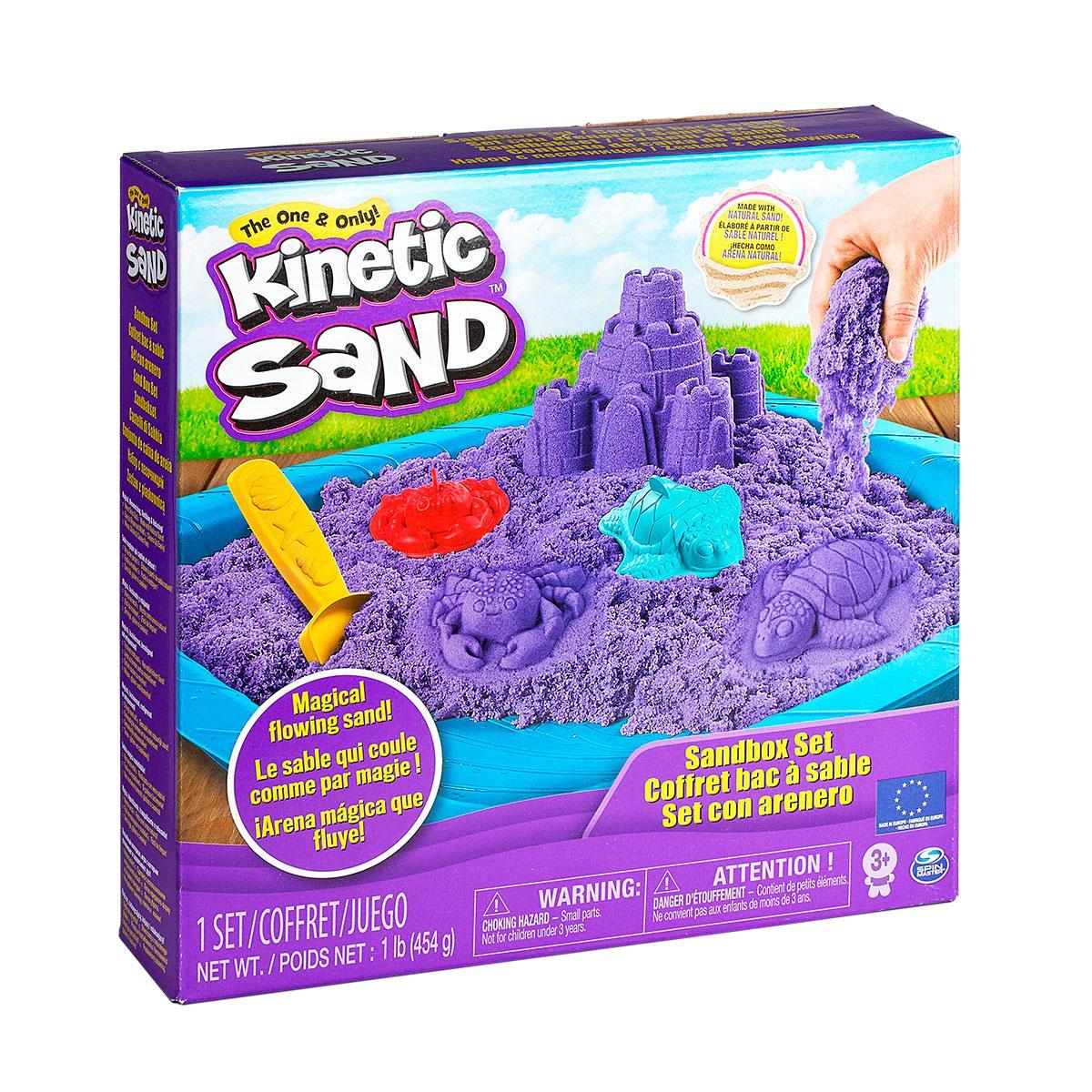 Набор песка для детского творчества - KINETIC SAND ЗАМОК ИЗ ПЕСКА (фиолетовый,454 г, кинетический песок))