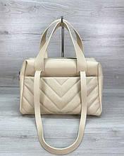 Женская сумка «Грейс» бежевая Welassie