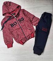 """Спортивний костюм на манжеті BOSS на хлопчика 5-8 років (2цв) """"MARI"""" купити оптом в Одесі на 7 км"""