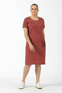 Сукня New Color 2885 теракот 52