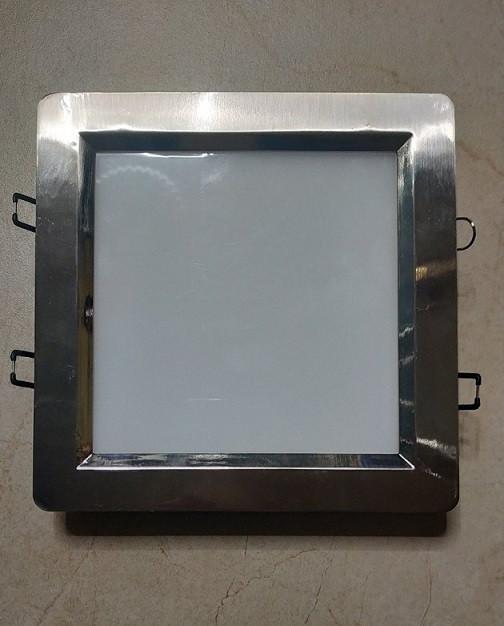 Світлодіодний світильник Horoz (HL685L) 12W IP20 3000K квадрат мат.хром (стельовий) Код.56831