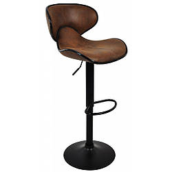 Барный стул со спинкой Bonro HB-678 коричневый