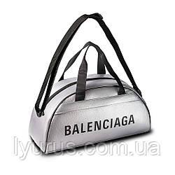 Спортивна фітнес-сумка баленсіага, Balenciaga для тренувань. Срібло. Кожзам