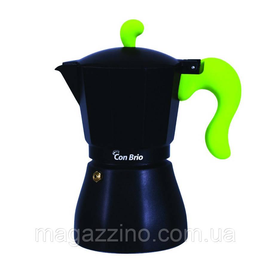 """Гейзерная кофеварка на 6 чашек, """"ConBrio"""", 300мл."""