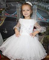 Детское нарядное платье Ангелочек в точечку - прокат, Киев, Троещина
