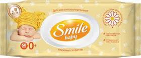 Салфетки влажные для младенцев Smile Baby Экстракт ромашки и алоэ 60 шт. (4823071617528)