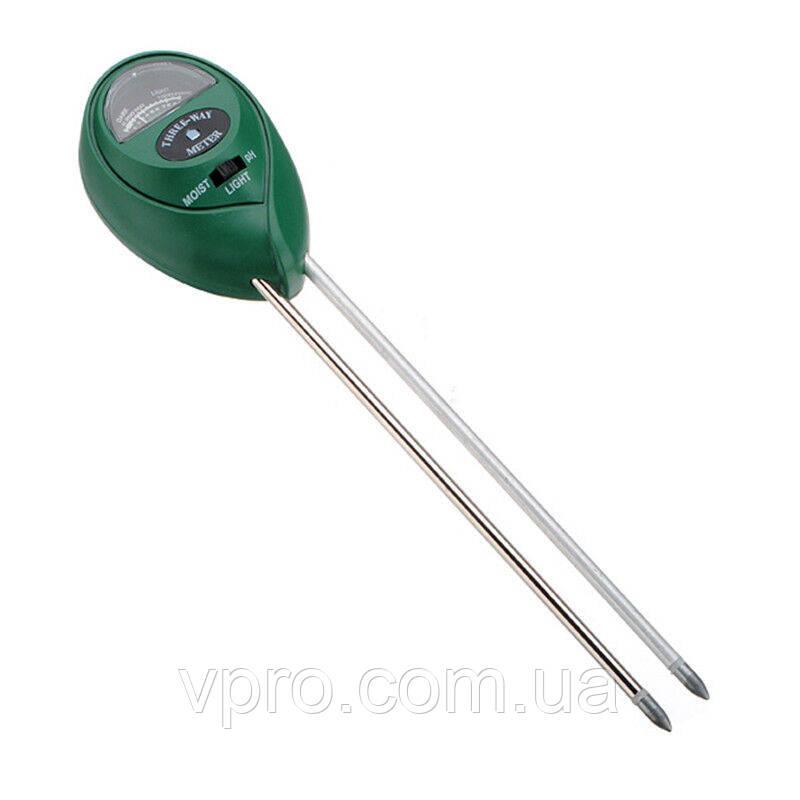 Вимірювач кислотності pH, вологості, освітленості грунту ЕТП-303 (3 в 1)