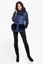 Сапфировая женская куртка короткая модель 15115, фото 3