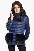Сапфировая женская куртка короткая модель 15115, фото 2