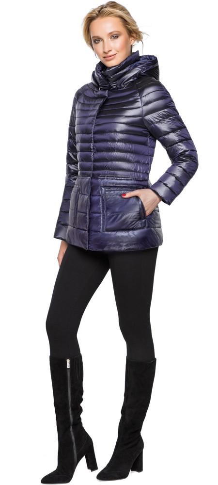 Фиолетовая куртка прямого фасона женская модель 15115
