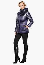 Фиолетовая куртка прямого фасона женская модель 15115, фото 2