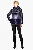 Фиолетовая куртка прямого фасона женская модель 15115, фото 3