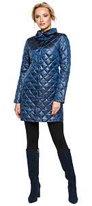Куртка с отложным воротником женская цвет темная лазурь модель 20856