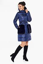 Сапфировая куртка на змейке женская модель 31845, фото 2