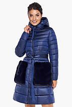 Сапфировая куртка на змейке женская модель 31845, фото 3