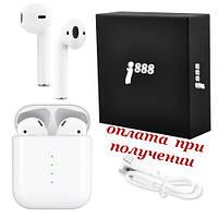 Беспроводные вакуумные Bluetooth наушники гарнитура TWS Apple AirPods Pro i888 СЕНСОРНЫЕ 1:1, фото 1