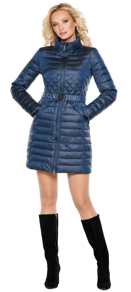 Жіноча куртка фірмова колір темна блакить модель 39002