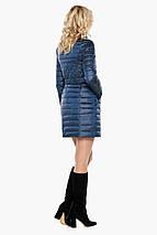 Жіноча куртка фірмова колір темна блакить модель 39002, фото 3