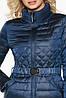 Жіноча куртка фірмова колір темна блакить модель 39002, фото 2