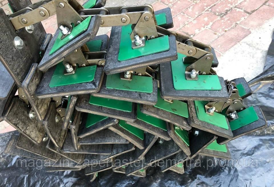 Цепь зернового элеватора 137 звеньев, 34 скребка Claas 605456