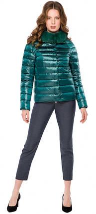 Смарагдова зручна куртка жіноча модель 40267, фото 2