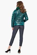 Смарагдова зручна куртка жіноча модель 40267, фото 3