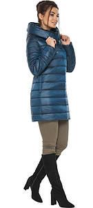 Куртка на змейке женская цвет темная лазурь модель 65085