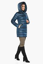 Куртка на змійці жіноча колір темна блакить модель 65085, фото 2