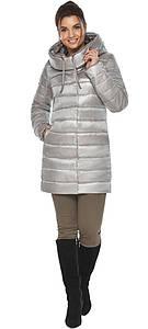 Куртка фирменная женская цвет перламутровый светло-серый модель 65085