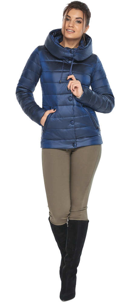 Женская куртка оригинальная цвет сапфировый модель 61030