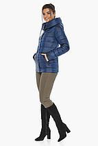 Женская куртка оригинальная цвет сапфировый модель 61030, фото 3