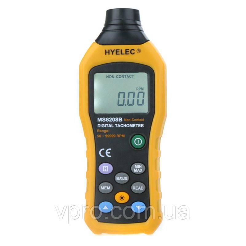Безконтактний фото-тахометр HYELEC MS6208B (50 - 250 мм) 50-99999 RPM, пам'ять 100 груп