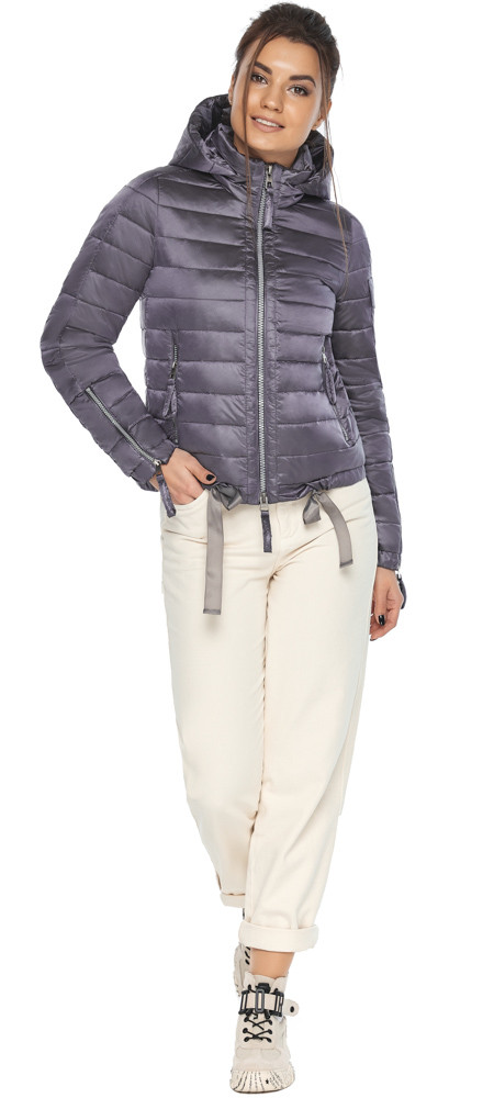 Куртка лавандовая трендовая женская модель 62574