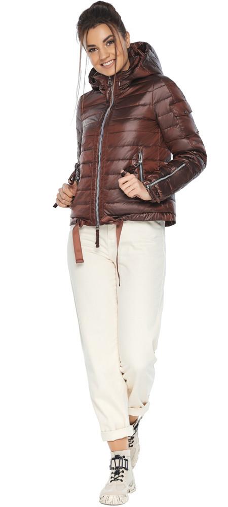 Каштанова зручна куртка жіноча модель 62574