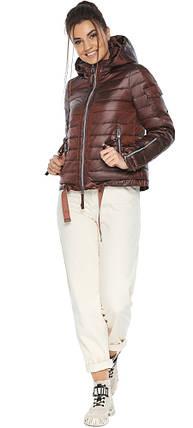 Каштанова зручна куртка жіноча модель 62574, фото 2
