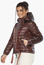 Каштанова зручна куртка жіноча модель 62574, фото 3