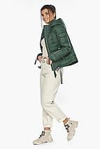 Брендовий куртка жіноча нефритова модель 62574, фото 3
