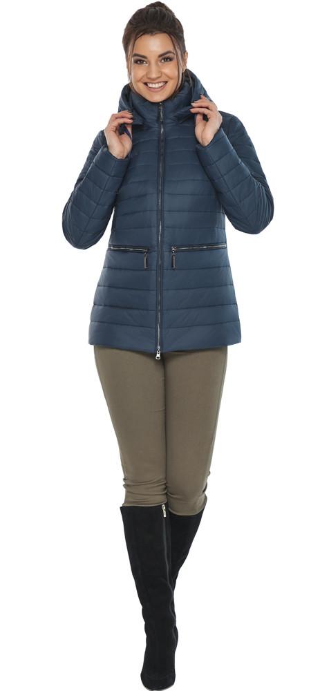 Брендовая синяя куртка женская модель 63045